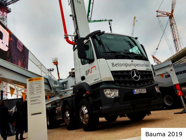 Valet u. Ott GmbH & Co. KG, Betonpumpen Betonpumpenunion BPU Ausstellung Bauma 2019